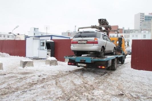 Проштрафившихся автовладельцев выставили на мороз