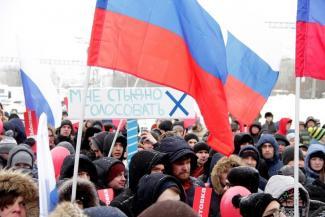 И два «КамАЗа» спецназа…«Забастовка избирателей» на окраине Казани собрала тысячу человек