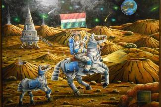 Первый татарский космонавт и ишаки с чак-чаком: почему казанского художника не признают на родине
