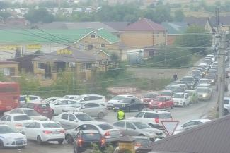 В казанском поселке Салмачи — транспортная блокада