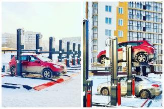«Выглядит ненадежно, не для нашего климата»: первая в городе двухуровневая парковка не внушила доверия казанцам