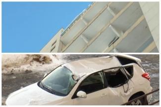 Мало не покажется: в Татарстане жилищники заплатили 830 тыс. рублей за ремонт машины, на которую с 25-го этажа рухнула льдина, и потребовали их у жильца, соорудившего козырек на лоджии
