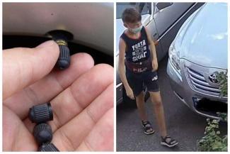 «Совсем офигели малолетки!»: казанские подростки скручивают колпачки с колес авто и хвастаются коллекциями в Интернете