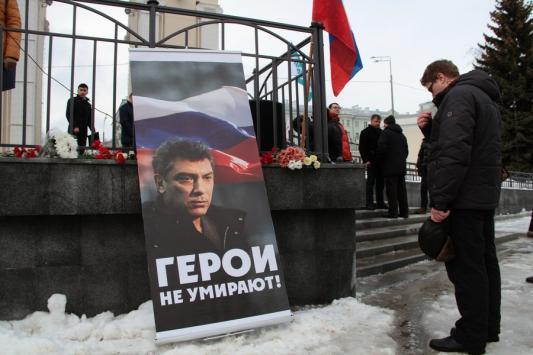 Митинг памяти Немцова в Казани: «Сегодня всякий человек, который говорит правду, занимается политикой»