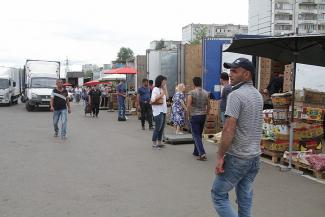 На казанском рынке «Привоз» произошла массовая драка между торговцами