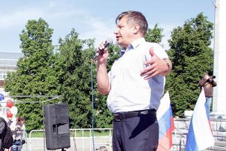 Марсель Шамсутдинов на митинге 12 июня