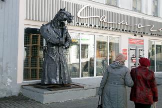 Кто, кто? Конь в пальто!.. В Казани появился памятник «чекисту» с лошадиной мордой