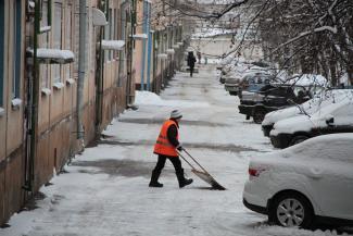 Зимой в Казани увольняются дворники