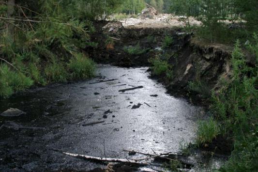 Битумное озеро в Дербышках начали убирать. На бумаге...