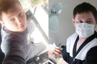 Казанские мужики не настолько суровы: молодой крановщик на досуге делает дамам маникюр