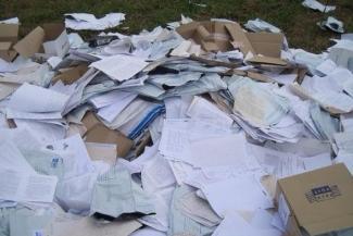 В Татарстане компромат на судебных приставов нашли на помойке