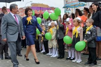 Вчера в Казани открылась еще одна школа с углубленным изучением отдельных предметов - №35