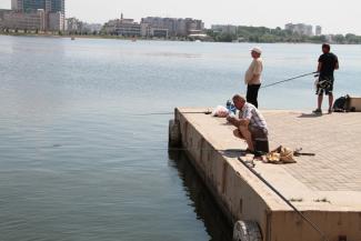 В Казани на спиннинг можно поймать катер
