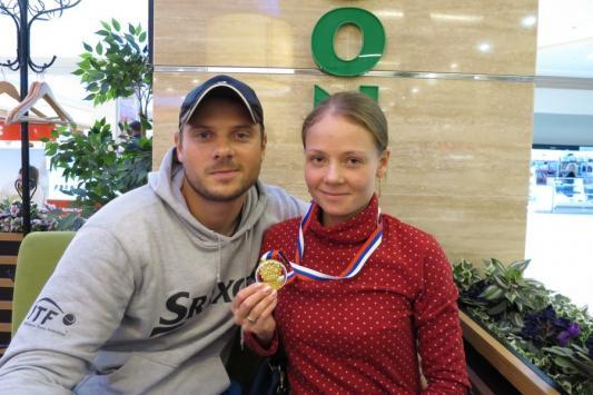Чемпионка Ксения Лыкина с мужем-личным тренером