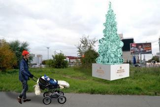 В Казани установят 10-метровую елку из старых велосипедов