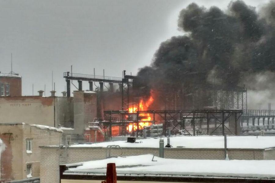 ВКазани на«Оргсинтезе» произошел пожар