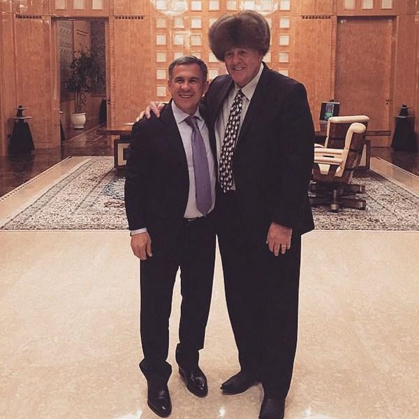Сергей Собянин поздравил сюбилеем президента Татарстана Рустама Минниханова