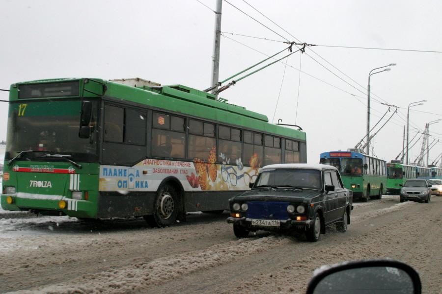 вчера в Казани трамваи и